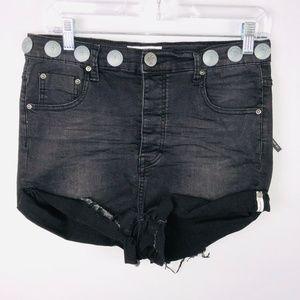 One Teaspoon Lovers Conchos Drop Crotch Shorts 24
